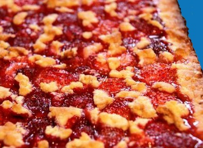Пирог со свежей клубникой рецепт