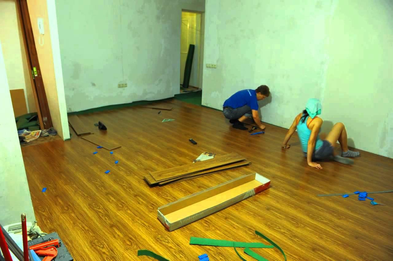 Школа ремонта мастер класс укладка ламината поделка #1