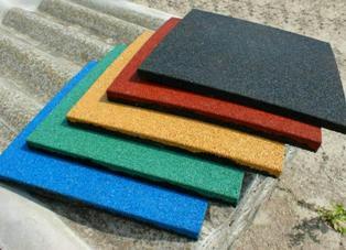 Особенности резиновой плитки и ее применение